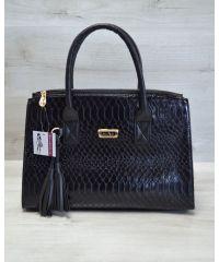 Женская сумка Кисточка черная кобра 52014
