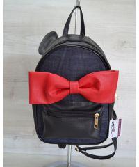 Молодежный рюкзак «Мики» джинсовый 43201