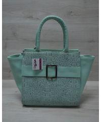 Женская сумка с пряжкой ментоловая 52903