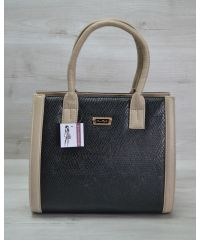 Женская сумка Бочонок бежевая 31601