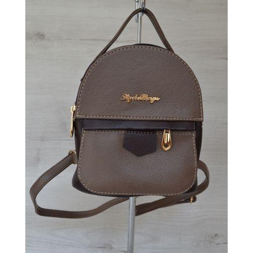 Маленький рюкзак коричневого цвета 43803