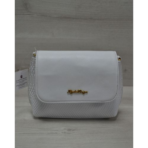 Женский клатч белый питон 60506