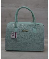 Женская сумка Саквояж ментоловая 31117