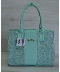 Женская сумка цвета ментол 31204