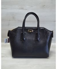 Женская сумка Живанши черная кобра 51302