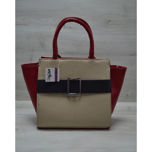 Женская сумка с пряжкой разноцветная 52901