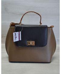 Женская сумка-клатч кофейная 61405
