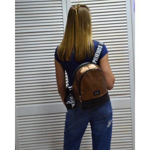 Молодежный рюкзак «Нашивка» бронзовый 42402