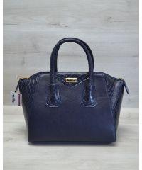 Женская сумка Живанши синяя кобра 51301