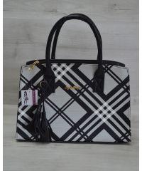 Женская сумка Кисточка барбери черная 52020