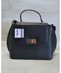 Женская сумка-клатч зеленая с черным 61404
