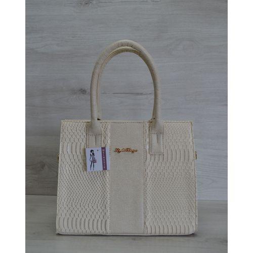 Женская сумка бежевого цвета 31202