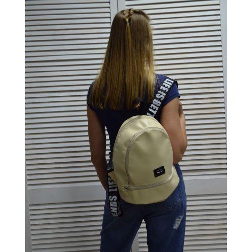Молодежный рюкзак «Нашивка» бежевый 42401