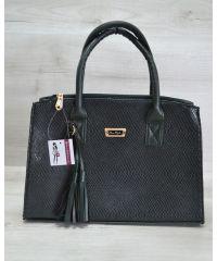 Женская сумка Кисточка зеленая змея 52019