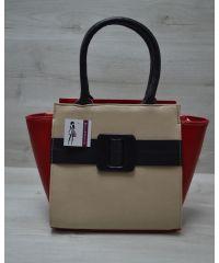 Женская сумка с ремнем разноцветная 52212