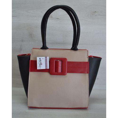 Женская сумка с пряжкой разноцветная 52912