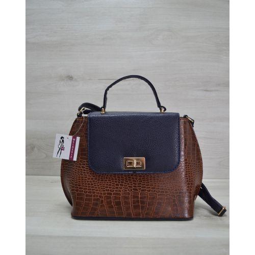 Молодежная сумка рыжая с синим 61401