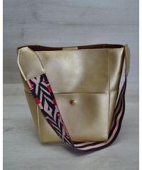 Женская сумка яркий ремень золотого цвета 23204