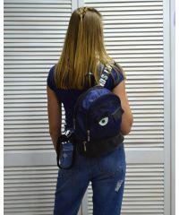 Молодежный рюкзак «Глазки» джинсовый 42502