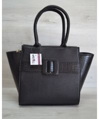 Женская сумка с пряжкой кроко 52909
