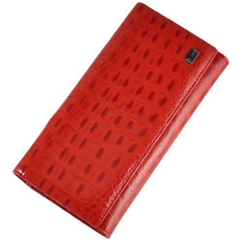 Женский кожаный кошелек 2030-B82 Crocodile красный