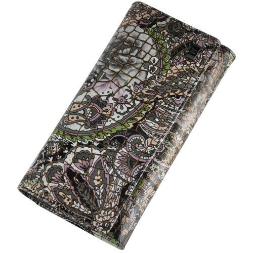 Женский кожаный кошелек 2030-F33 турецкие огурцы зеленый