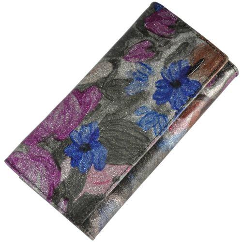 Женский кожаный кошелек 2030L-F48 Gloss серебро