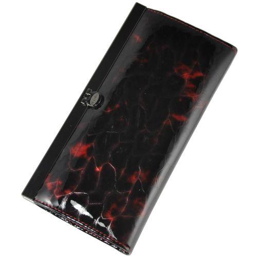Женский кожаный кошелек 2263-B2 янтарь черный