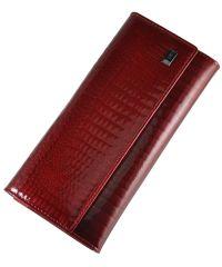 Женский кожаный кошелек 2491T-44 Crocodile красный