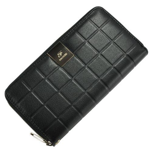 Женский кожаный кошелек 2548-YF2 шашка черный