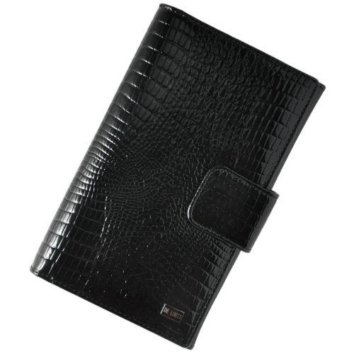 Женский кожаный кошелек 2603-EZ67 Crocodile органайзер черный