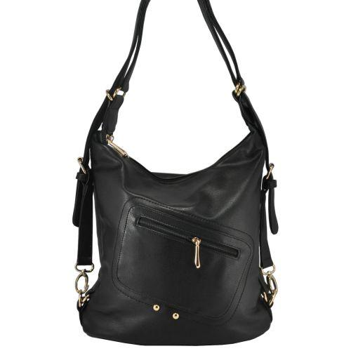 Женская сумка 8104 трансформер черная