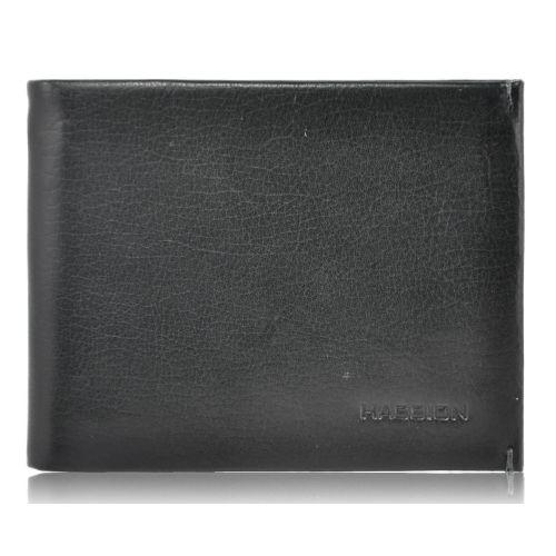 Мужской кожаный кошелек H-010 магнитный черный