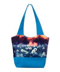 Городская сумка XYZ Флер С0301 Одуванчики Голубая