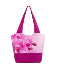 Городская сумка XYZ Флер С0303 Орхидеи Малиновая