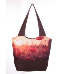 Городская сумка XYZ Флер С0304 Маки Коричневая