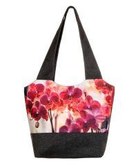 Городская сумка XYZ Флер С0312 Орхидея Темно-серая