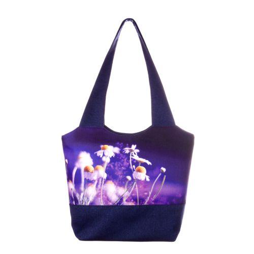 Городская сумка XYZ Флер С0314 Ромашки Синяя