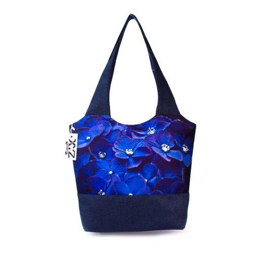 Городская сумка XYZ Флер С0323 Синие цветы Синяя