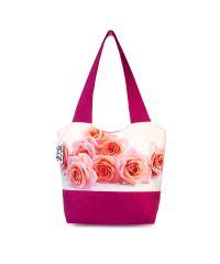 Городская сумка XYZ Флер С0328 Розы Малиновая