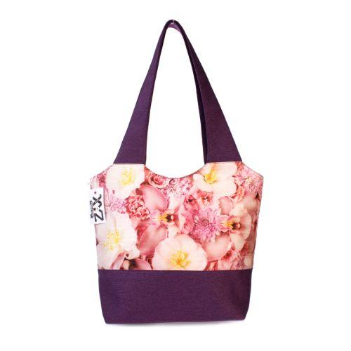 Городская сумка XYZ Флер С0330 Розовые цветы Фиолетовая