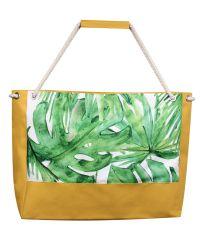 Пляжная сумка XYZ Holiday 2203 тропические листья желтая