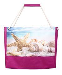 Пляжная сумка XYZ Holiday 2222 морская звезда малиновая