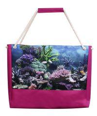 Пляжная сумка XYZ Holiday 2224 аквариум малиновая