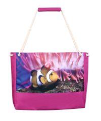 Пляжная сумка XYZ Holiday 2226 рыбка фиолетовая
