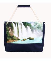 Пляжная сумка XYZ Holiday 2231 водопад синяя