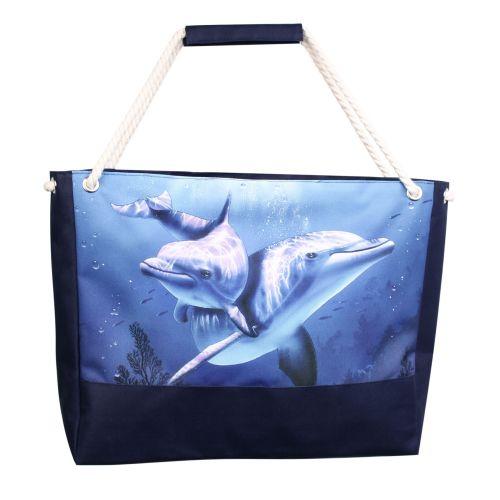 Пляжная сумка XYZ Holiday 2237 дельфины синие