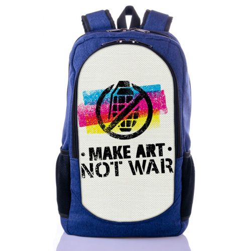 Городской рюкзак XYZ New Design РГ18106 Нет войне синий