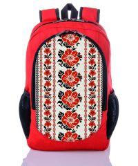 Городской рюкзак XYZ New Design РГ18302 Орнамент Цветы красный