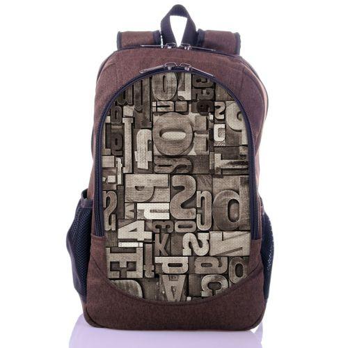 Городской рюкзак XYZ New Design РГ18612 Буквы коричневый